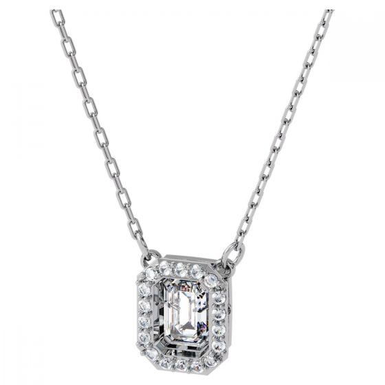 Swarovski Dancing Crystals Millenia Square Necklace - White with Rhodium Plating 5599177