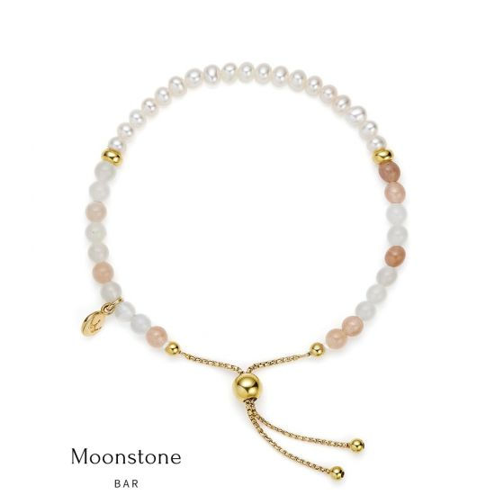 Jersey Pearl Sky Bracelet - Bar Style in Moonstone