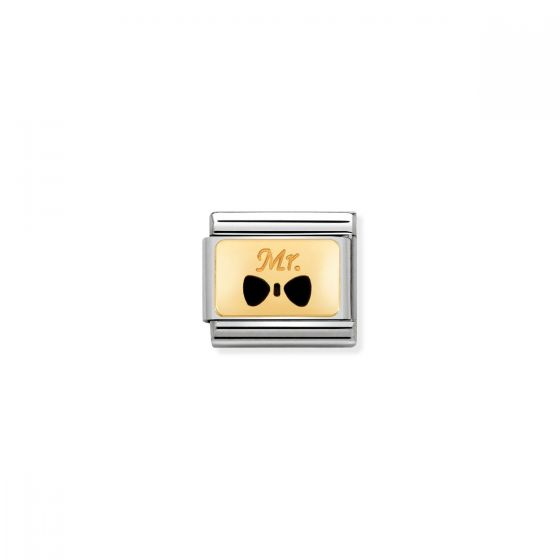 Nomination Classic Bow Tie Mr Charm - 18k Gold - 030284/25