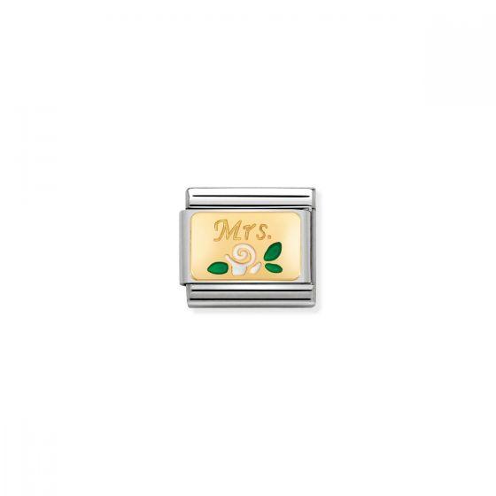 Nomination Classic Mrs Rose Charm - 18k Gold - 030284/24
