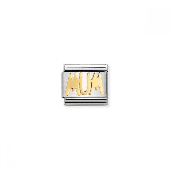 Nomination Classic Mum Charm - 18k Gold - 030107/14