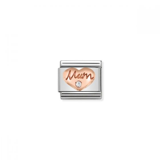 Nomination Rose Gold and Zirconia Classic Mum Charm - 430305/10