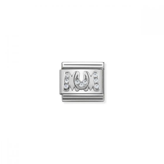 Nomination Silver and Zirconia Classic Mum Charm - 330316/08