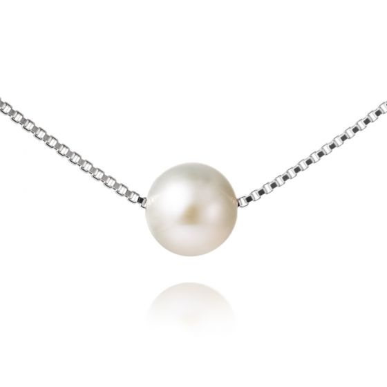 Jersey Pearl Single White Pearl Necklace