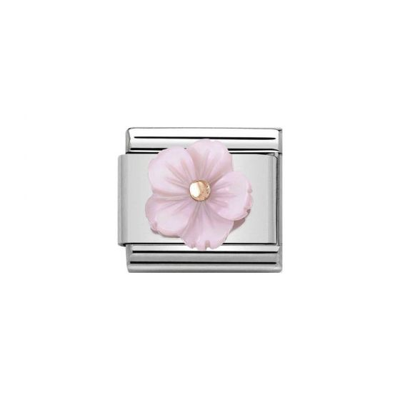Nomination Composable Classic Lilac Mother of Pearl Flower Charm