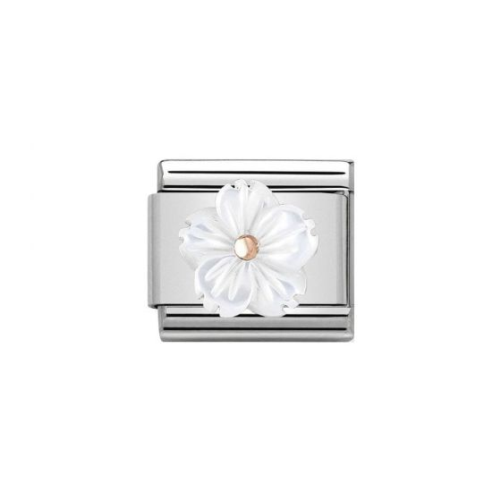 Nomination Composable Classic Link White Flower Charm