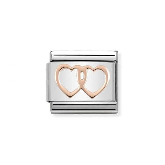 Nomination Classic Symbols Stainless Steel and 9k Gold Double Hearts 430104_08