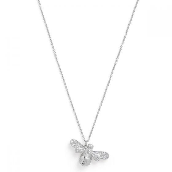 Olivia Burton Sparkle Bee Necklace Silver OBJAMN57