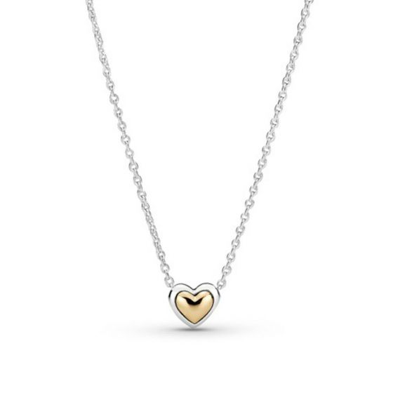 Pandora Domed Golden Heart Collier Necklace 399399C00-45
