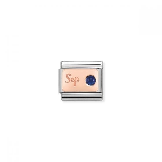 Nomination Rose Gold Classic September Birthstone Charm - 430508/09