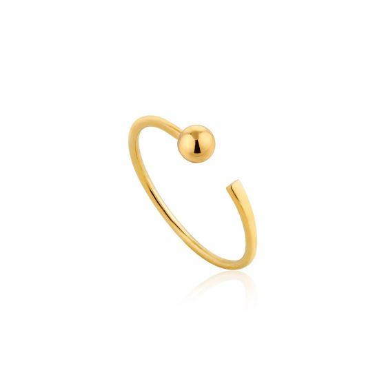 Ania Haie Orbit Adjustable Ring, Gold R001-02G
