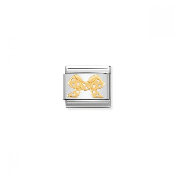 Nomination Classic Ribbon Charm - 18k Gold - 030162/10