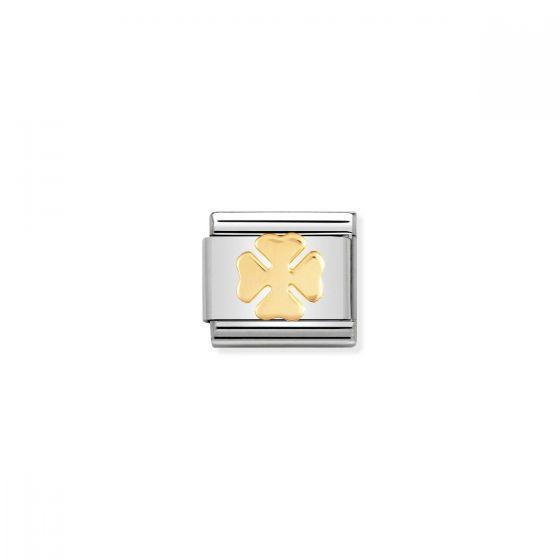 Nomination Classic Four Leaf Clover Charm - 18k Gold - 030115/06