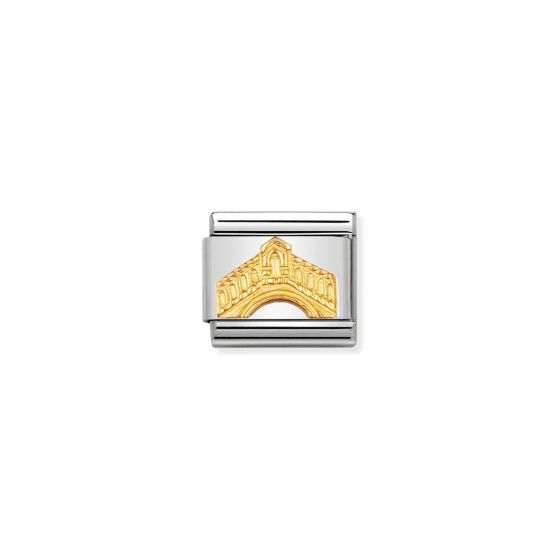 Nomination Classic Monuments Rialto Bridge Charm - 18k Gold - 030123/26
