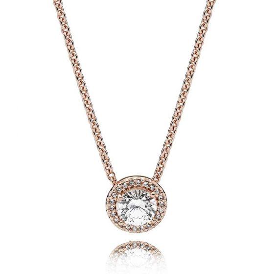 Pandora Rose Round Sparkle Halo Necklace - 386240CZ
