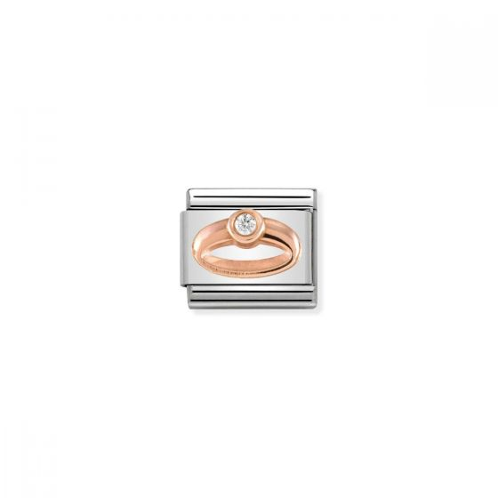 Nomination Rose Gold and Zirconia Classic Ring Charm - 430305/04