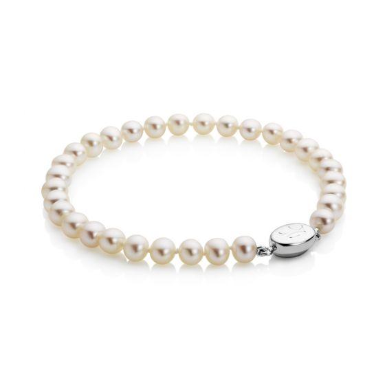 Jersey Pearl 5.0-5.5mm Classic Freshwater Pearl Bracelet  1520231