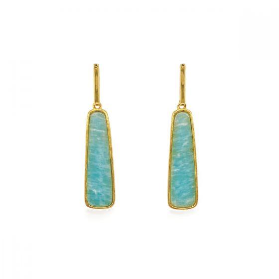 Sarah Alexander Soho Amazonite Wedge Earrings