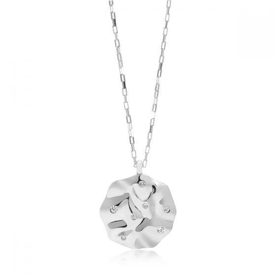 Sif Jakobs Acerra Pendant, silver with white zirconia SJ-P0019-CZ