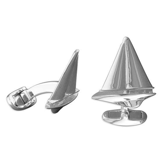 Solid Sterling Silver Cufflinks, J Class Racing Yacht