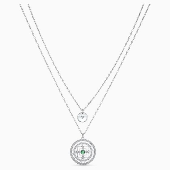 Swarovski Symbolic Mandala Necklace - White - Rhodium Plating - 5541987