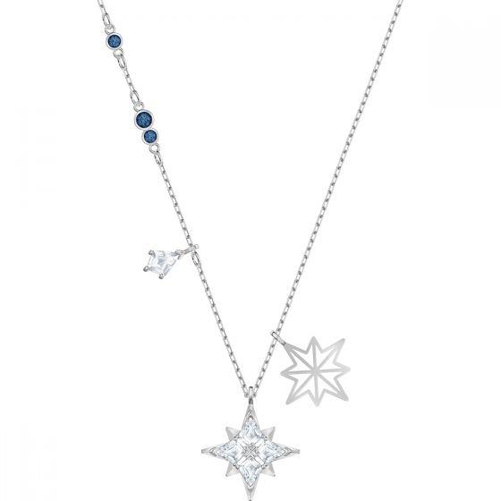 Swarovski Symbolic Star Pendant, White, Rhodium Plating 5511404