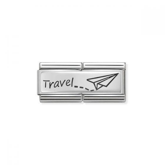 Nomination Classic Double Link Travel Charm - Silver - 330710/09