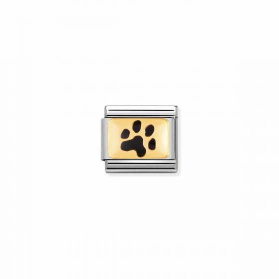 Nomination Classic Dog Paw Charm - 18k Gold - 030284/47
