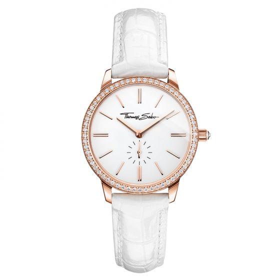 Thomas Sabo Women's Glam Spirit Watch, Pavé Rose and White WA0251-215-202