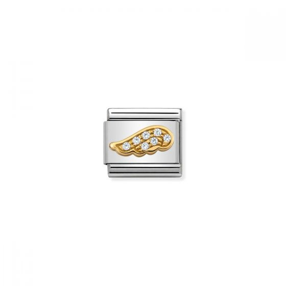 Nomination Gold and Zirconia Wing Charm - 030322/32