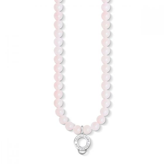 Thomas Sabo Rose Quartz Charm Necklace - X0237-034-9