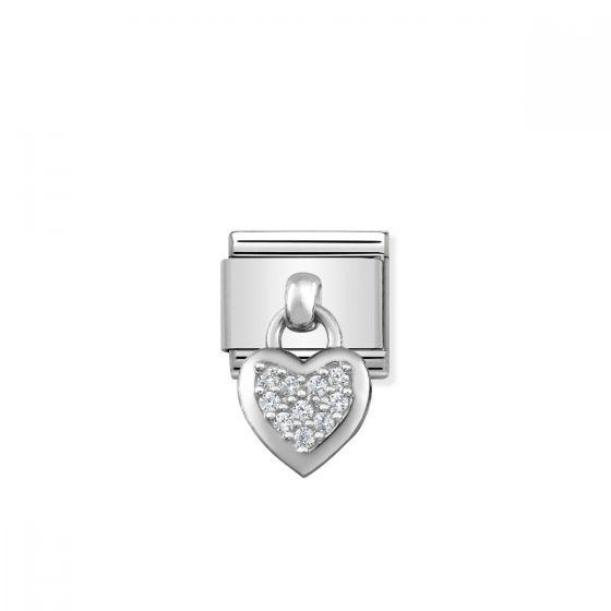 Nomination Classic Cubic Zirconia Heart Charm - 331800/01
