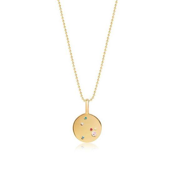 Sif Jakobs Valiano Pendant - Gold with Multicolour Zirconia
