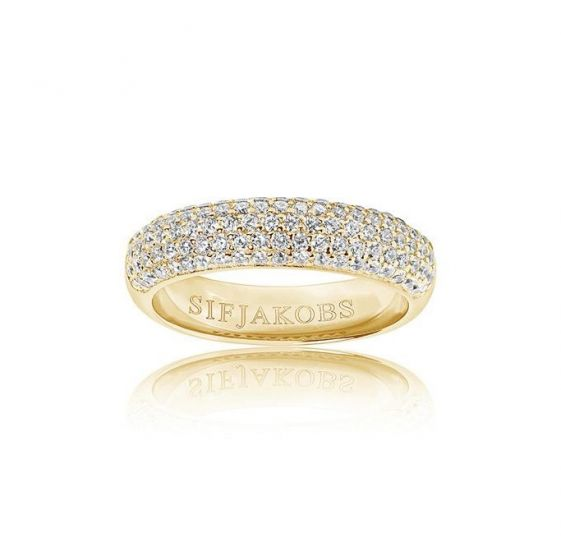 Sif Jakobs Melazzo Ring - Gold with White Zirconia