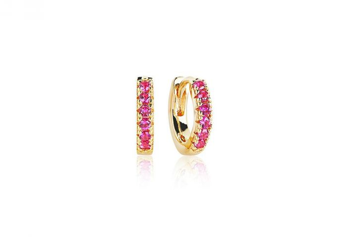 Sif Jakobs Ellera Piccolo Earrings, gold with red zirconia SJ-E1066-RED(YG)