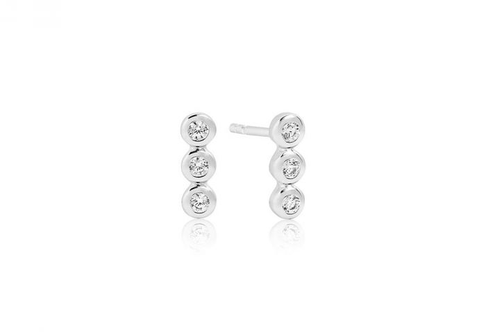 Sif Jakobs Earrings Sardinien Tre Piccolo with White Zirconia - SJ-E2640-CZ