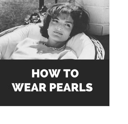 How to wear pearl jewellery