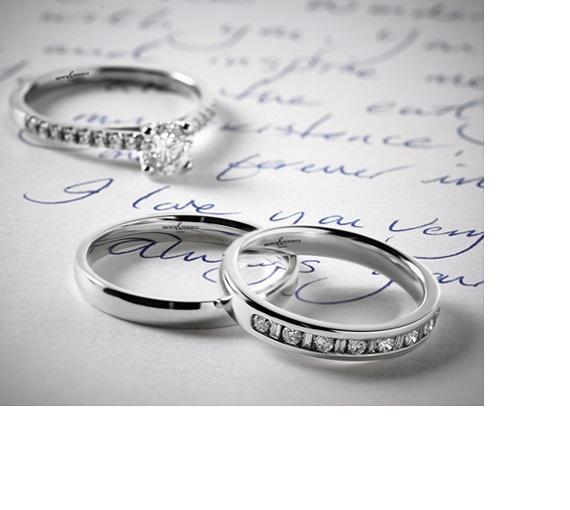 Should I choose a plain or diamond wedding band?