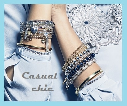 Casual chic jewellery style