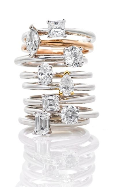 Engagment, wedding and eternity rings