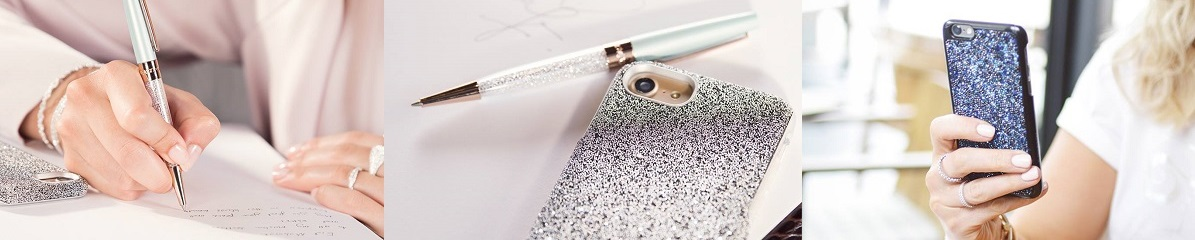 Swarovski pens and phone cases