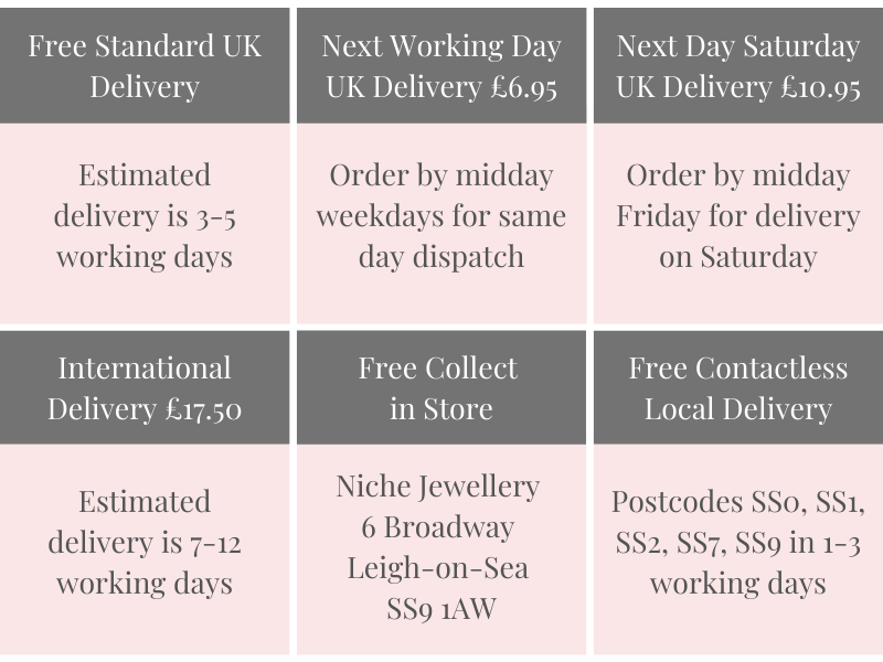 Niche Jewellery Delivery Options
